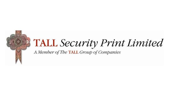 Tall Security Print logo